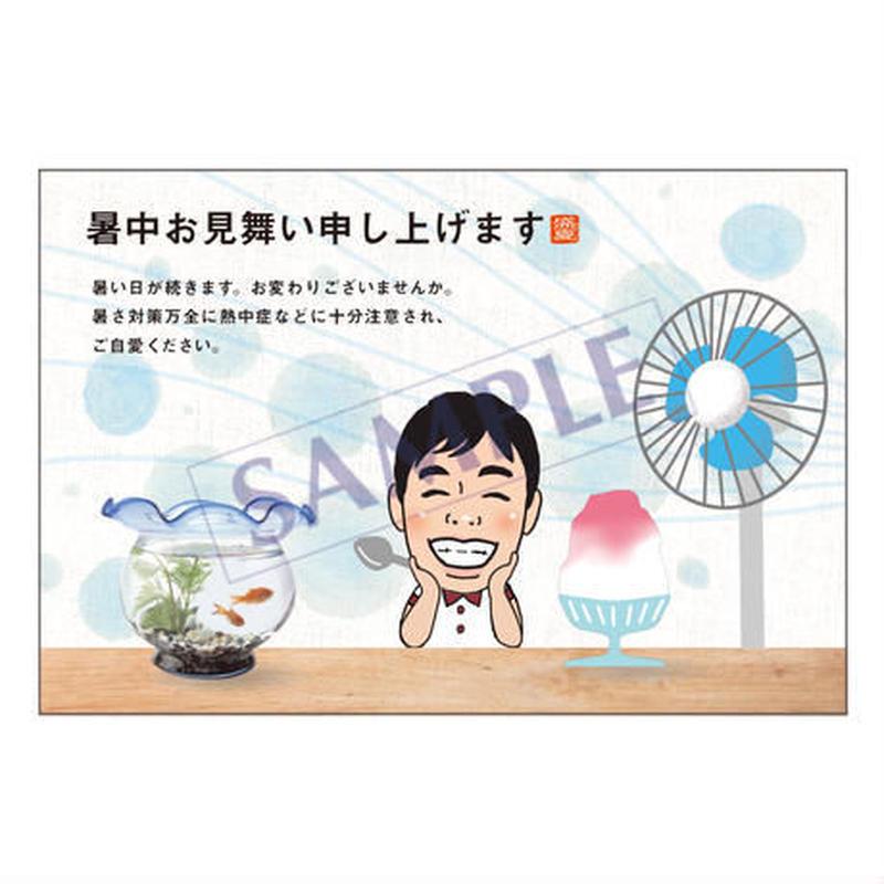 メッセージカード 季節の便り 18-0827(似顔絵ver)/1セット 10枚