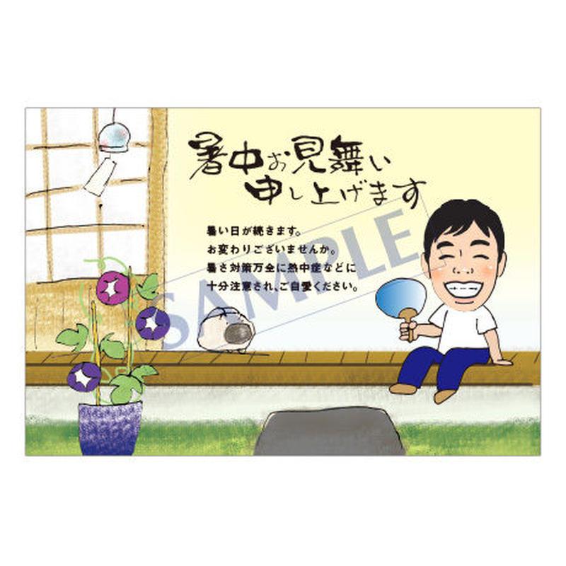 メッセージカード/季節の便り/17-0800(似顔絵ver)/1セット 10枚