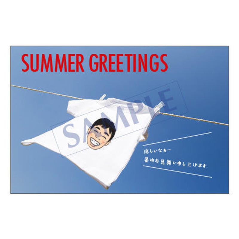 メッセージカード 季節の便り 16-0763(似顔絵ver) 1セット(10枚)