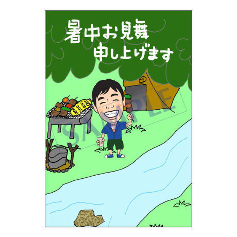 メッセージカード 季節の便り 16-0766(似顔絵ver) 1セット(10枚)
