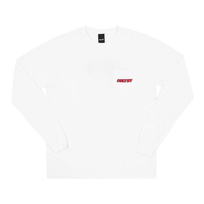 """ONLY NY"" Planet Pocket L/S T-Shirt (White)"