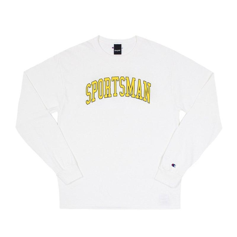 """ONLY NY"" Sportsman Champion® L/S T-Shirt (White)"