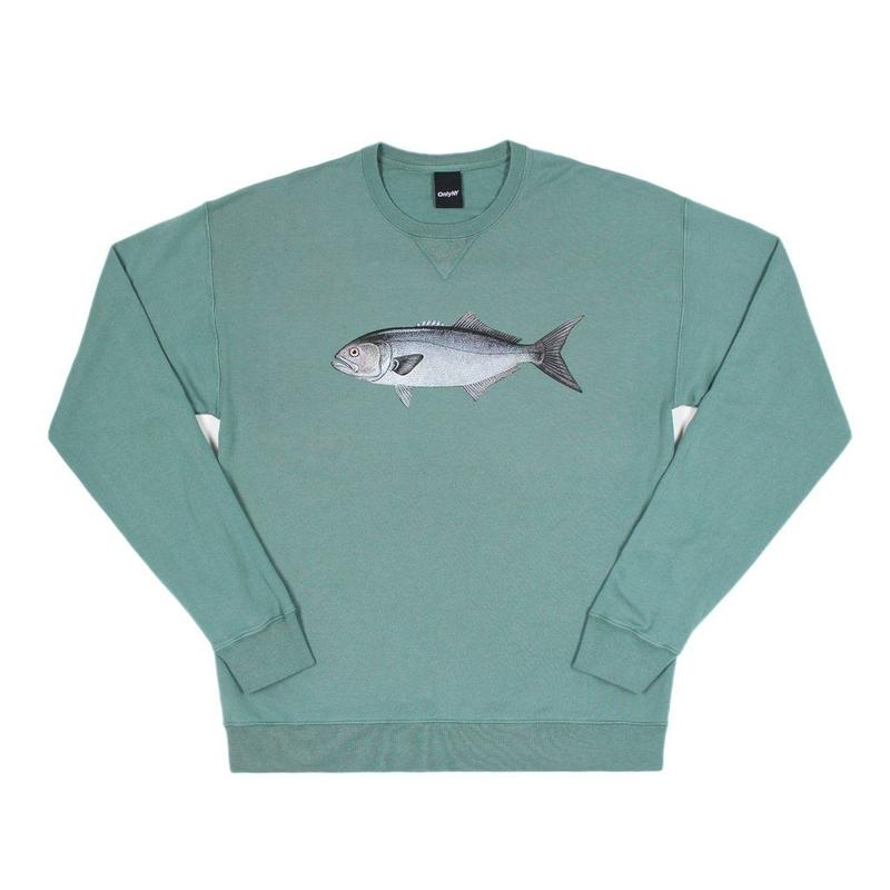 """ONLY NY"" Bluefish Crewneck (Sage)"