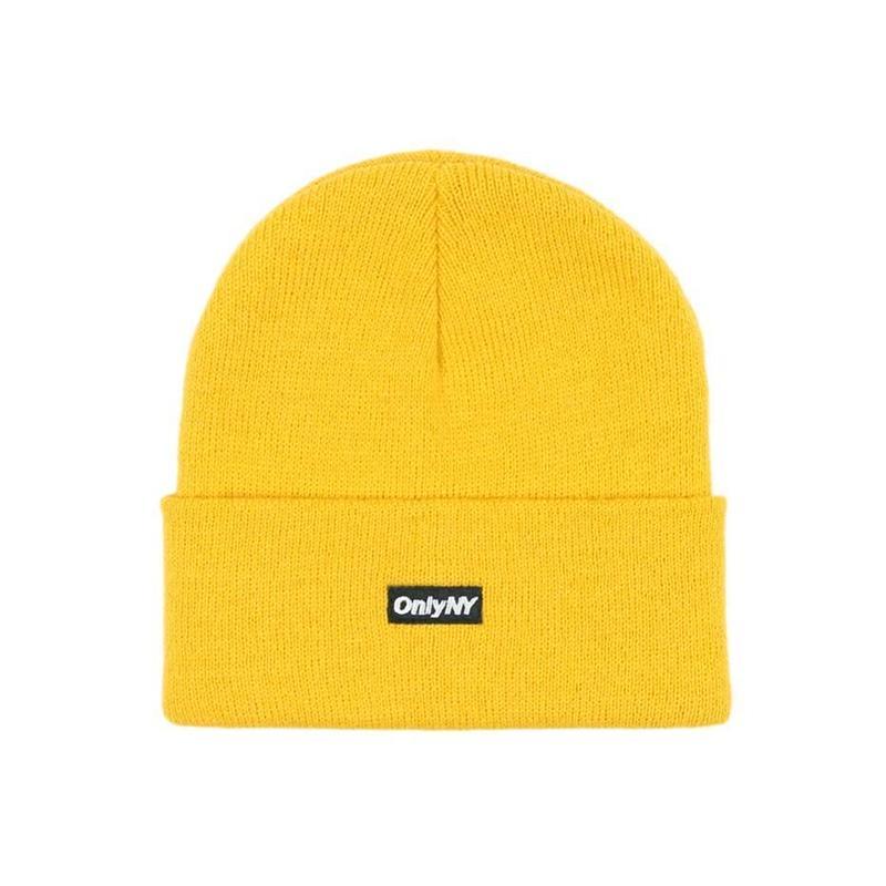"""""""ONLY NY"""" Block Logo Beanie (Mustard)"""