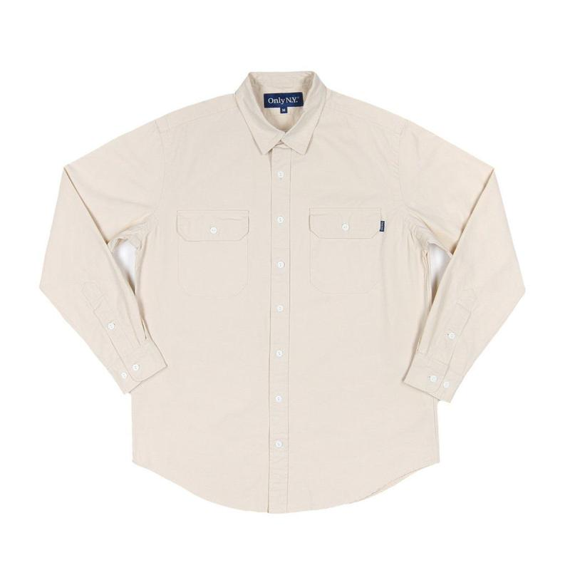 """ONLY"" Washed Cotton Beach Shirt"