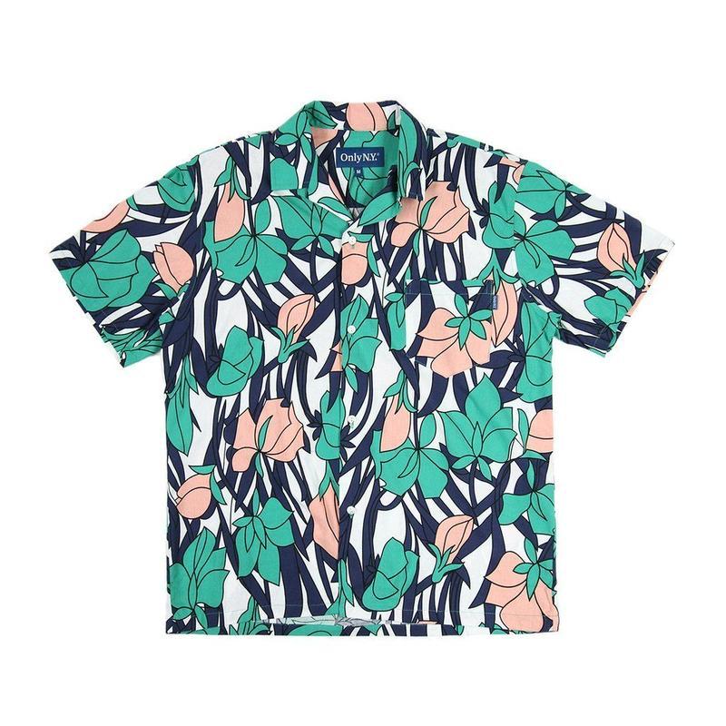 """""""ONLY NY"""" Tulip Aloha Shirt (Teal)"""