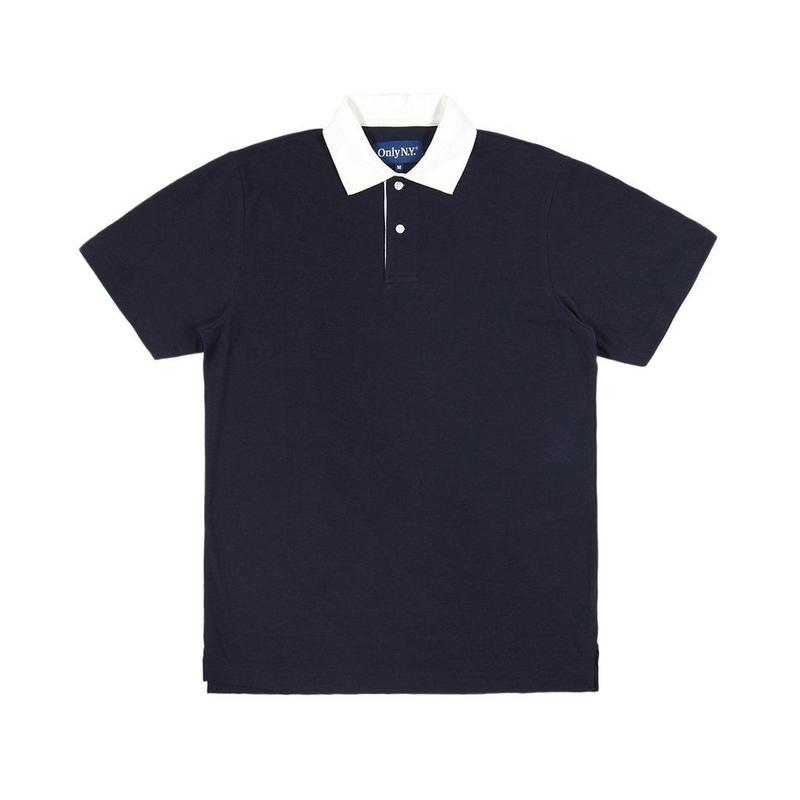 """ONLY NY"" Piqué Polo Shirt (Navy)"