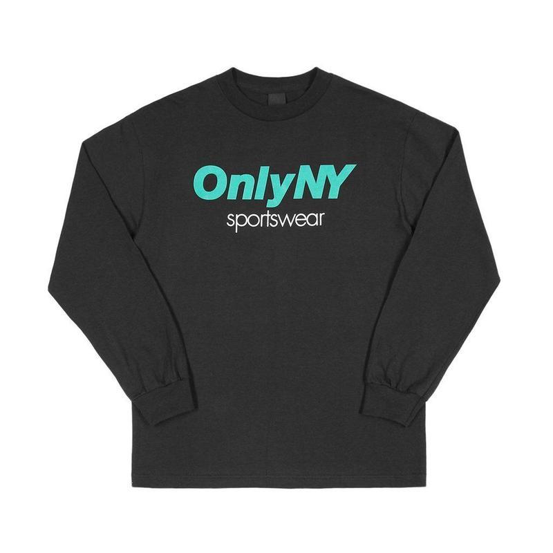 """ONLY NY"" Sportswear L/S T-Shirt (Black)"