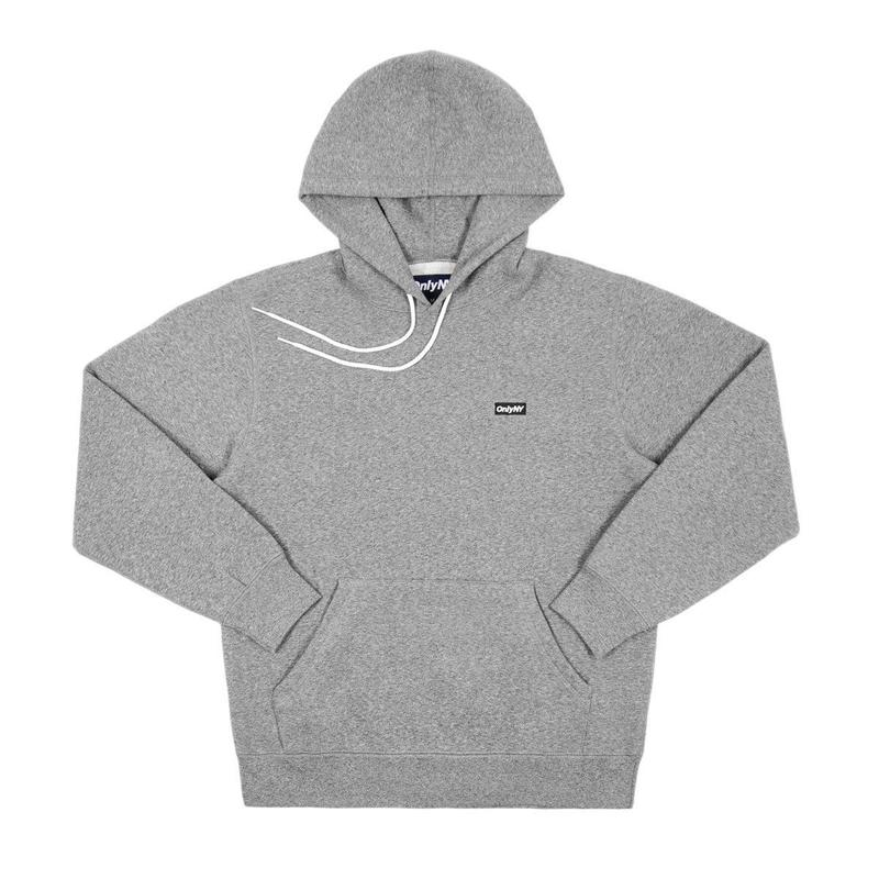 """ONLY NY"" Block Logo Hoody (Salt and Pepper)"