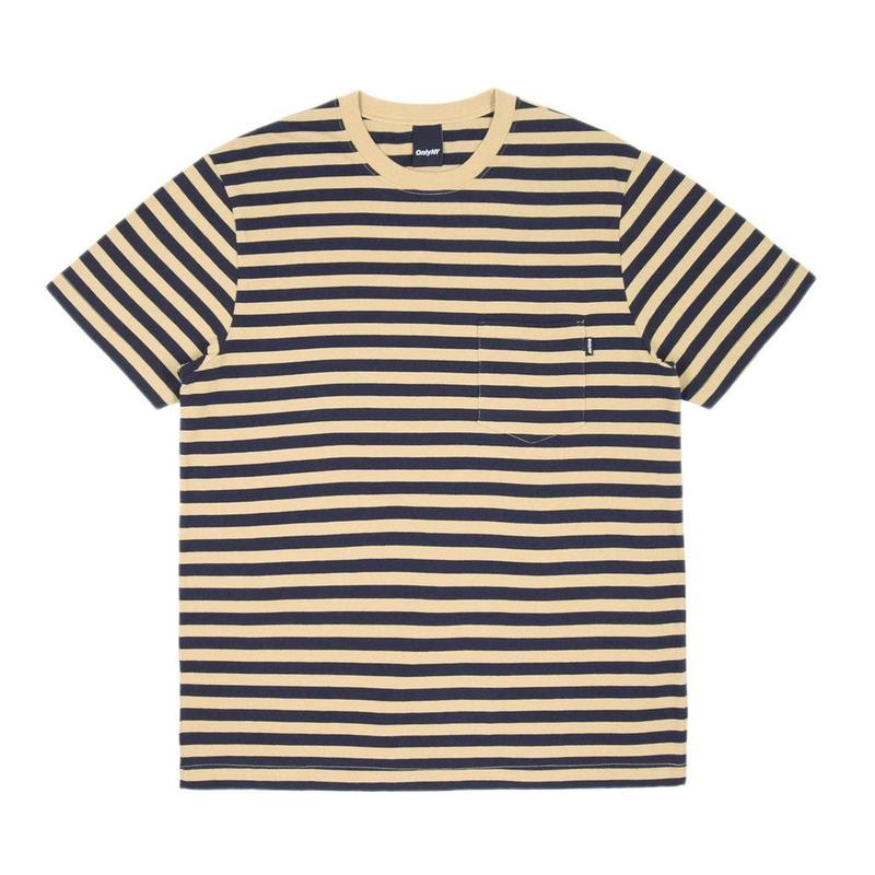 """ONLY"" Nautical Stripe Pocket T-Shirt"