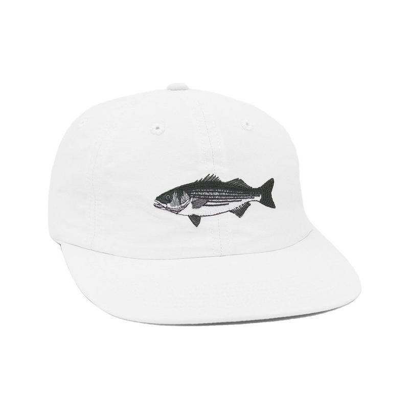 """ONLY NY"" Striped Bass Polo Hat (White)"