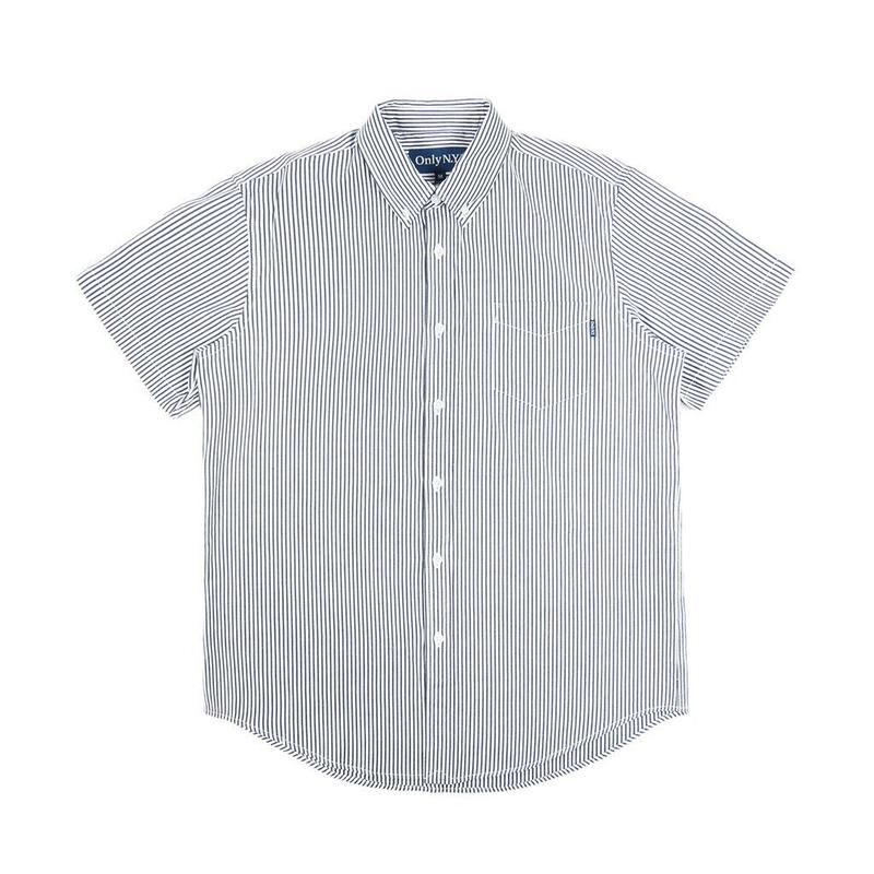 """ONLY NY"" Thin Stripe S/S Button Down (Hickory Stripe)"