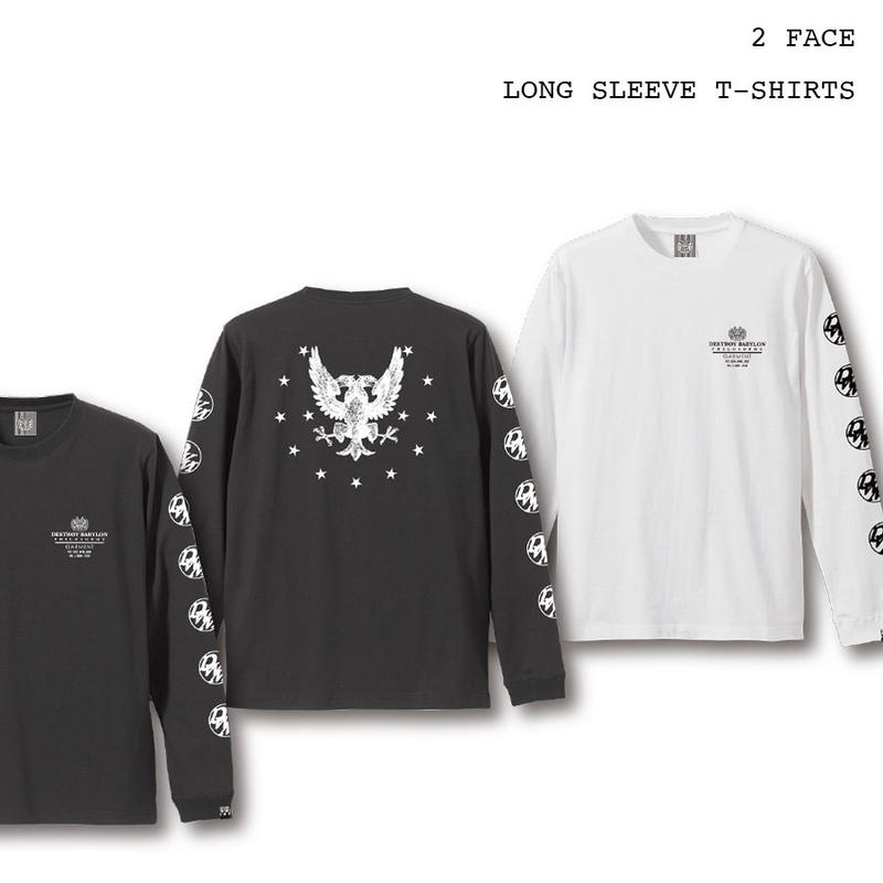 2 Face / 5.6oz Long Sleeve T-Shirts