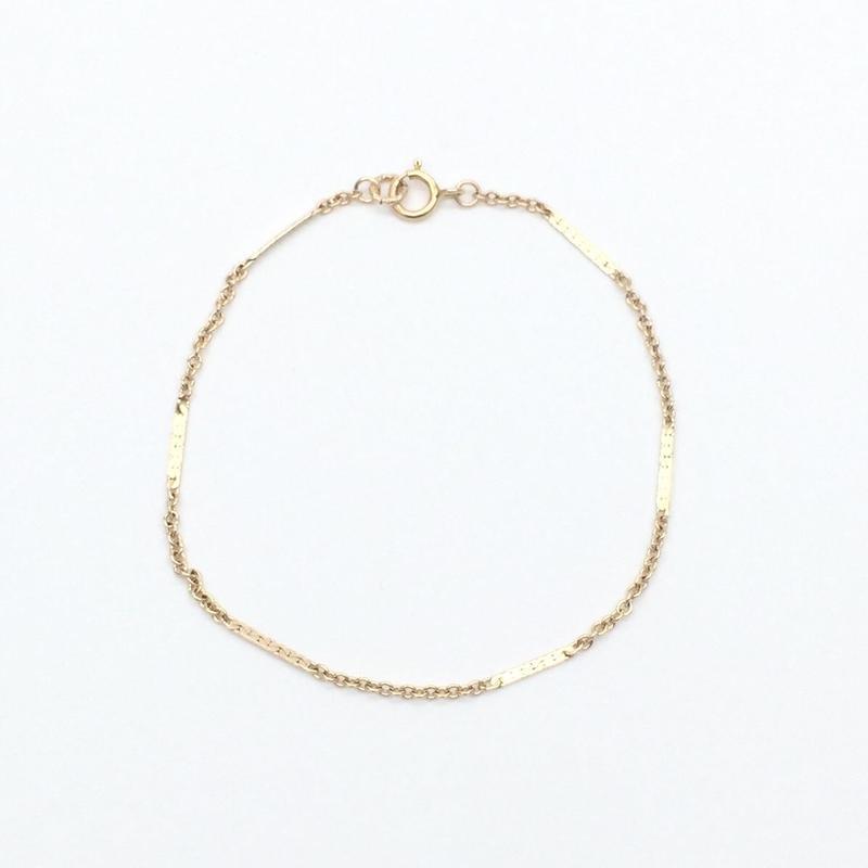 Flat bar bracelet