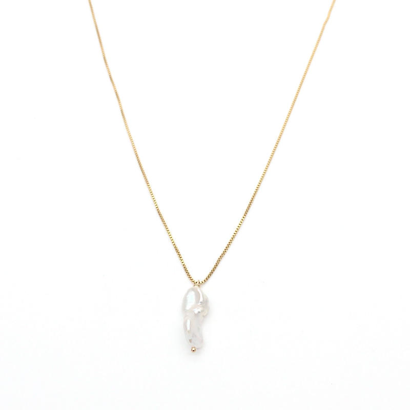 Freshwater keshi pearl necklace