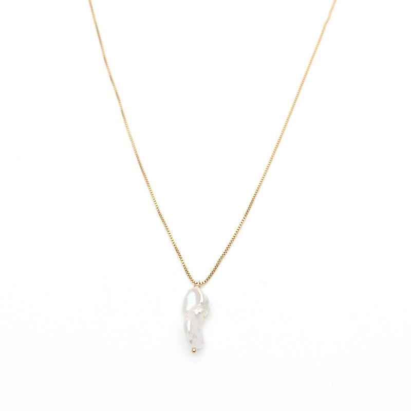 Freshwater keshi pearl necklace