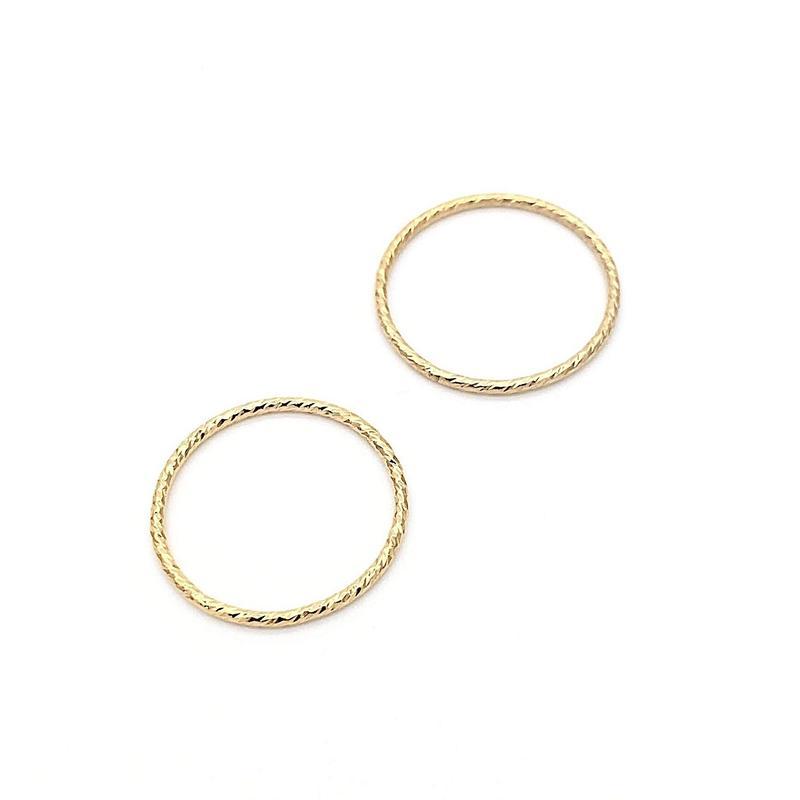 Shining gold ring