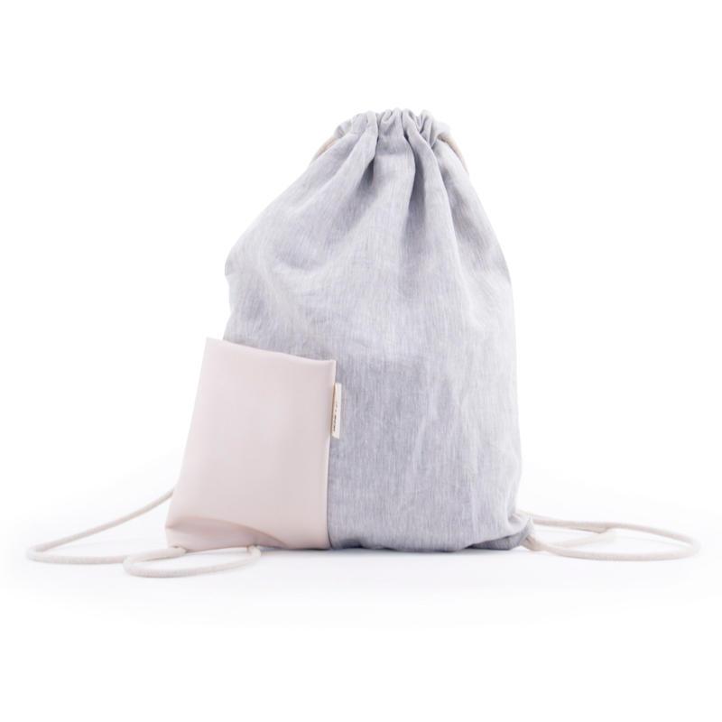 NIAS DRAWSTRING BAG ソフトピンク- MONK&ANNA
