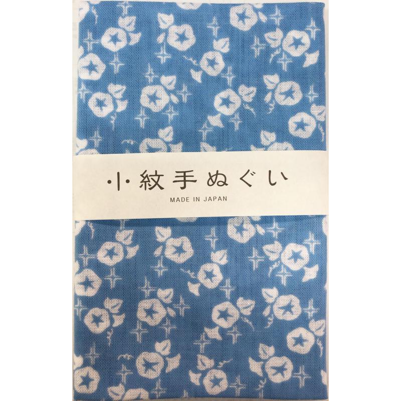 〔手拭壱本〕小紋手ぬぐい 朝顔柄(33×90㎝)