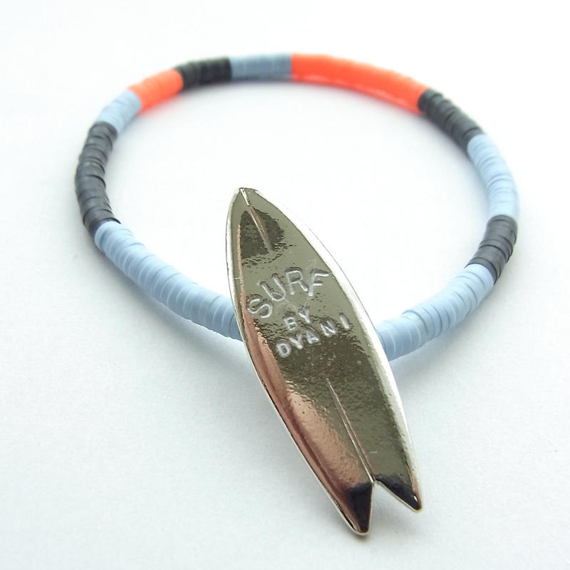 """NO WAVE NO LIFE + COLORS """"ALOHA & SURF"""" BEADS TYPE Bracelet"""
