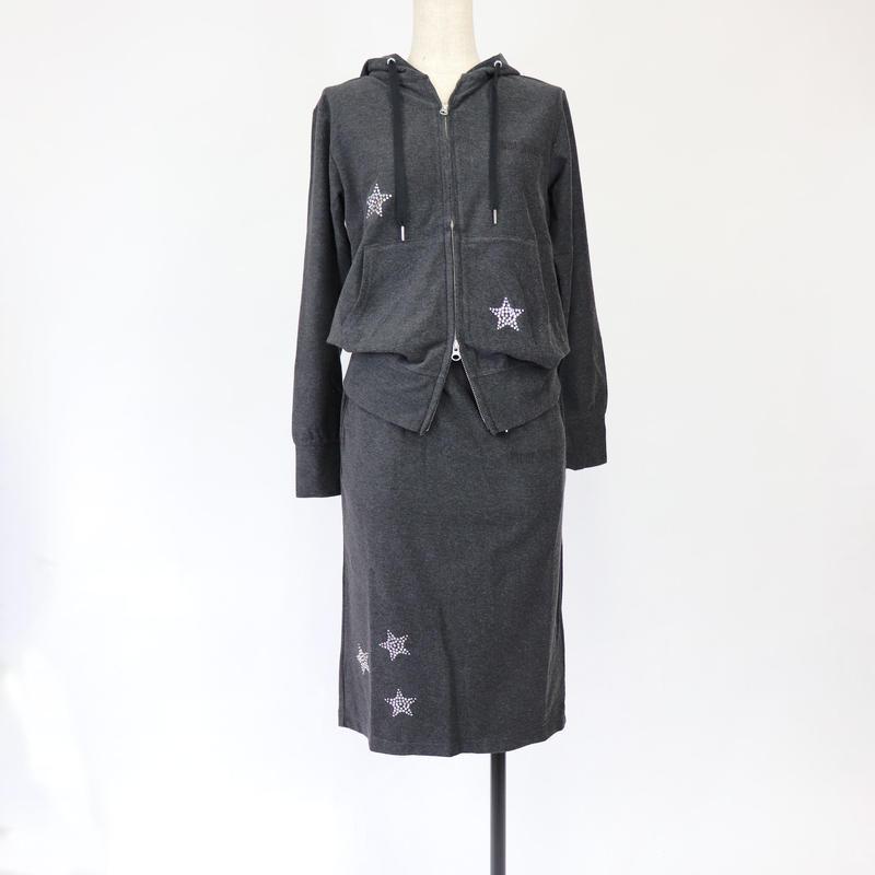 1901701 ハイゲージクリアパイルスカート