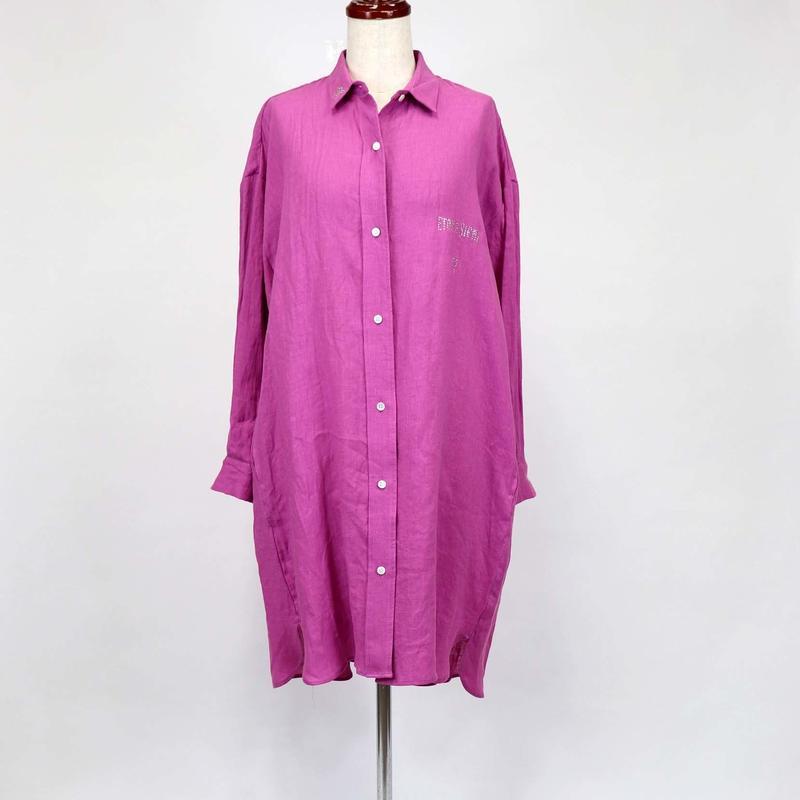 1901602 フレンチリネンロングシャツ