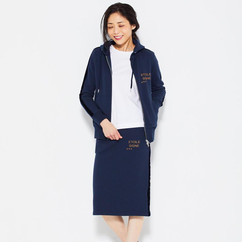 1804703  刺繍裏毛スカート