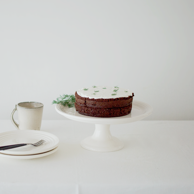BAUER POTTERY |  Cake Stand