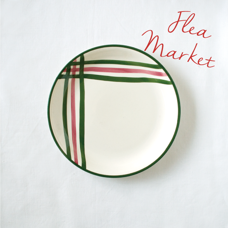 Flea Market Items | Green × Pink Plate