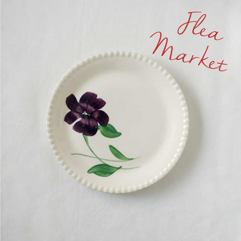 Flea Market Items | Flower Plate