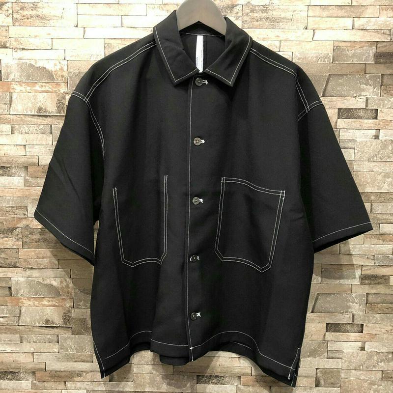 配色ステッチルーズシャツ  194041