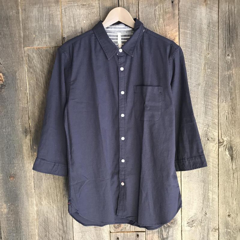 綿麻ストレッチ7分袖シャツ