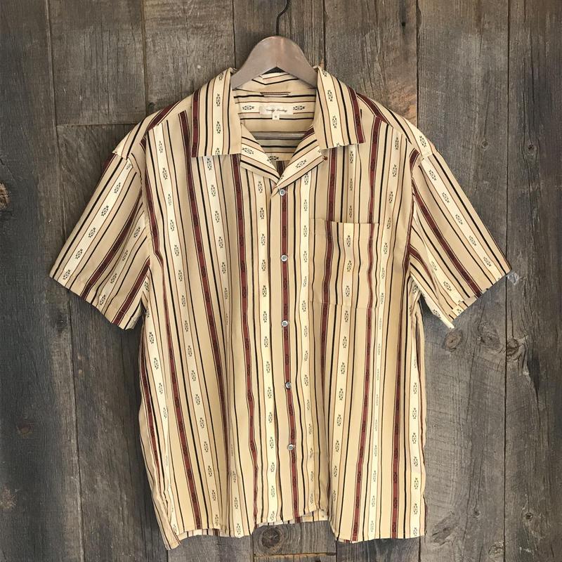 総柄 オープンカラーシャツ 19723