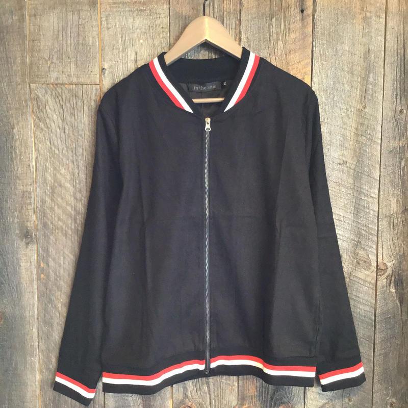 リブMA-1ジャケット