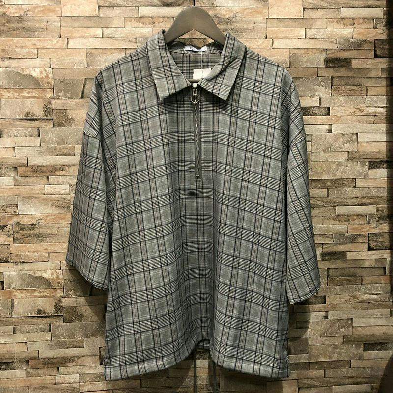 チェックハーフジップシャツ 192-3276