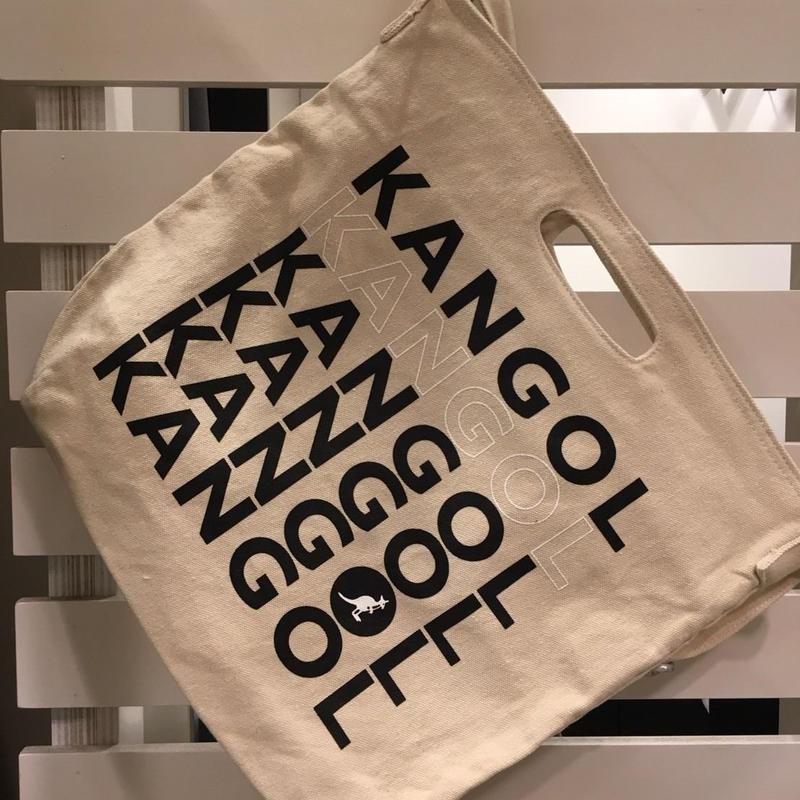 KANGOL  キャンバスショルダー BAG  ロゴ ブラック