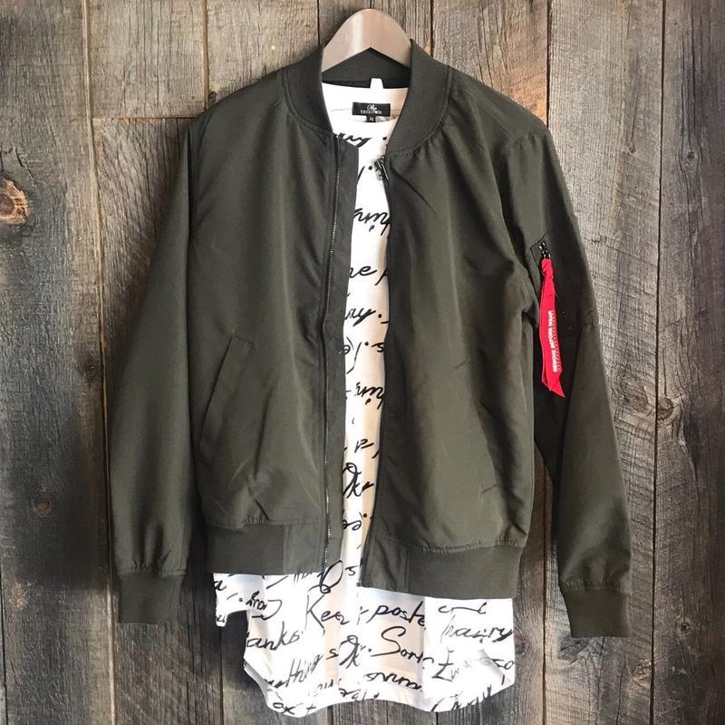 ポリピーチMA-1ジャケット カーキ