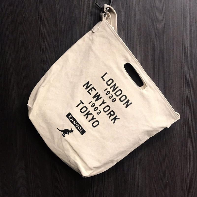 KANGOL  L. N. T キャンバスショルダー BAG  ロゴ