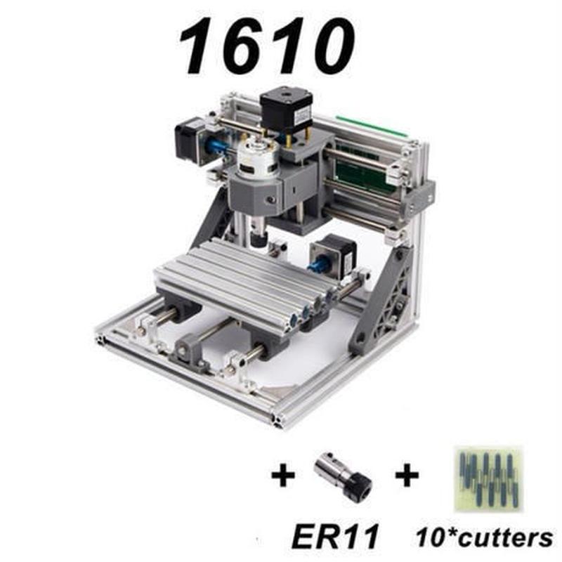 CNC1610 ミニ フライス盤 DIY 組み立てキット 3軸 木彫り彫刻機 レーザー彫刻機【新品】