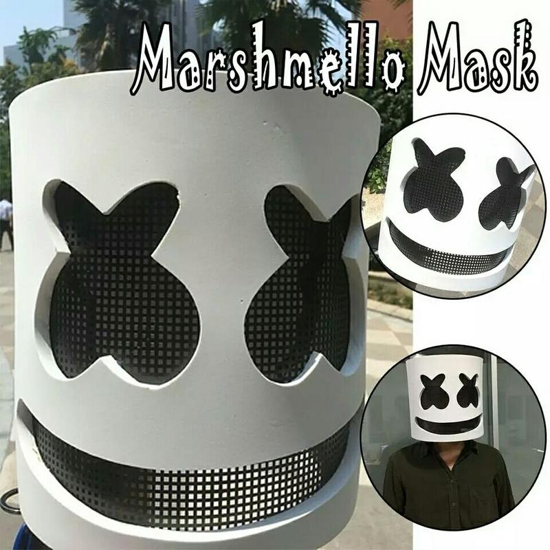DJ Marshmello マシュメロ マスク コスプレ 衣装 仮装 衣装 小道具 映画 グッズ レプリカ