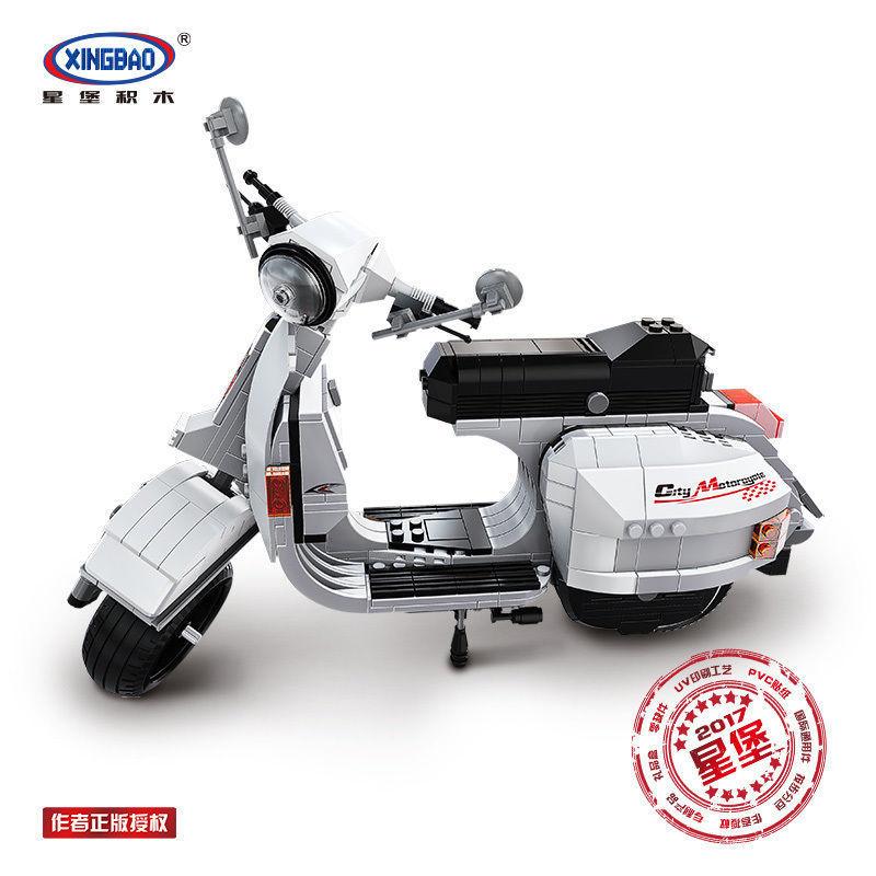XINGBAO ブロック ☆ スクーター ベスパ P200 (白) VESPA P200 MOTO