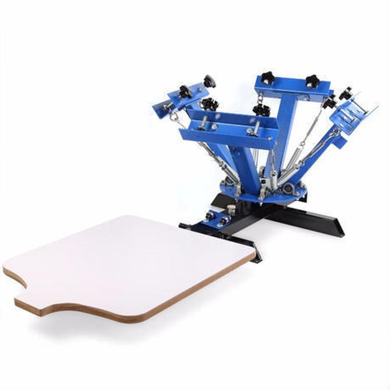 シルクスクリーン印刷機 高性能4色プリンター Tシャツ 布 ハンクラ 業務用 家庭用 卓上型キット アイロンプリント 自作 DIY ハンドクラフト