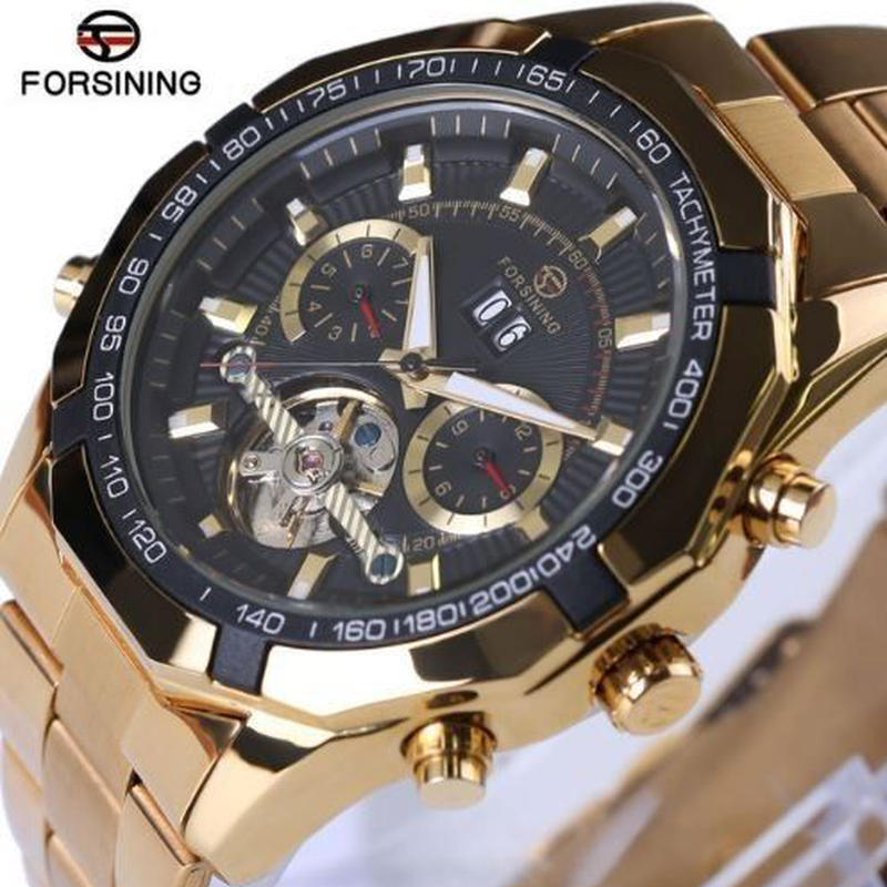 海外トップブランド ラグジュアリー メンズ トゥールビヨン 自動巻き オートマティック 腕時計 黒
