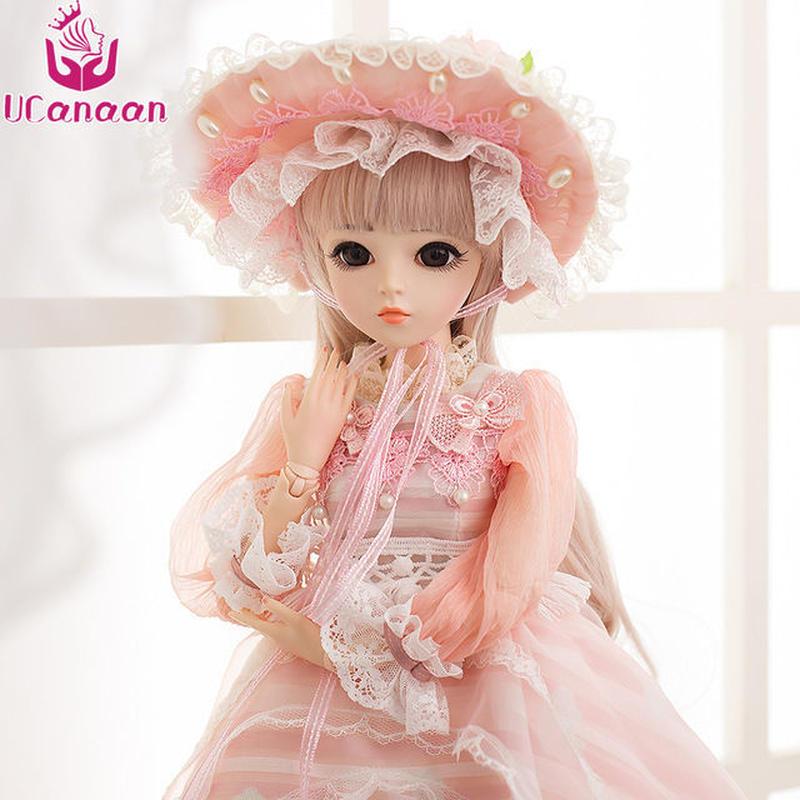 球体関節人形 BJD 衣装付き お姫様 お嬢様 女の子 プリンセスドール 60cm 美しい フランス人形/西洋人形/SD 金髪 ピンク ドレス