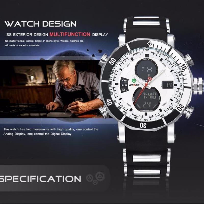 メンズ スポーツ 腕時計 デジタル デュアル 防水機能 モデル シリコン バンド  ミリタリー