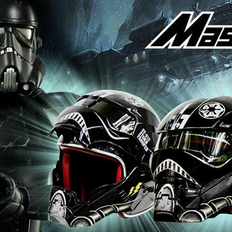 スターウォーズ ストーム トルーパー イメージ フルフェイス ヘルメット レーサー 銀河帝国軍 マスク なりきり コスプレ
