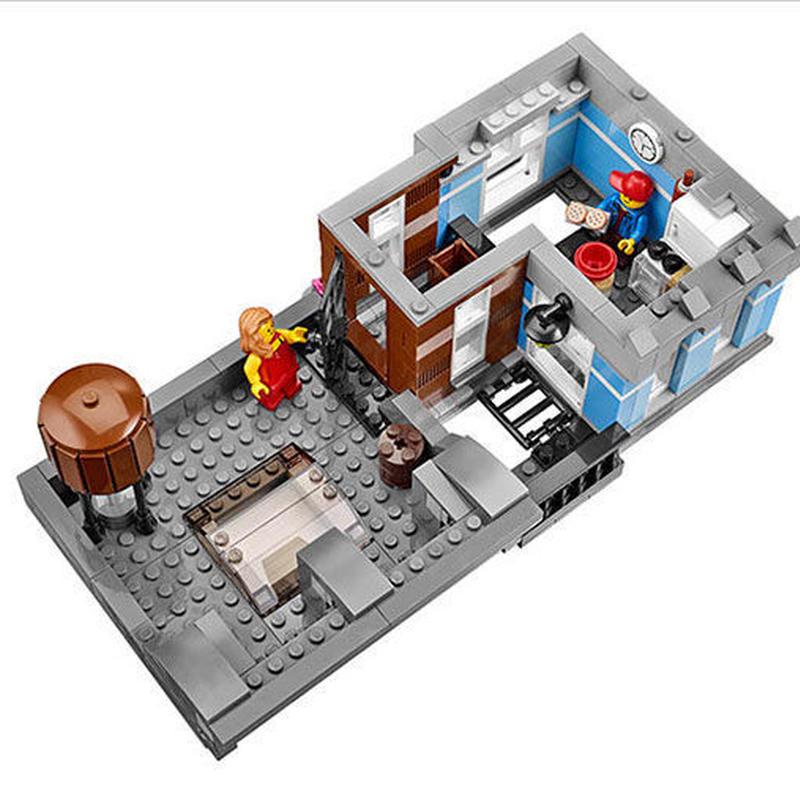 LEGO互換品 LEPIN クリエーター 探偵事務所 レゴブロック 互換 建物 ストリート 理容室 ビル アパート 10246