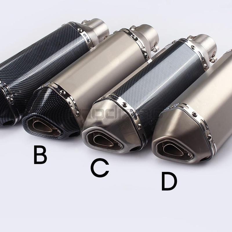 汎用 サイレンサー スリップオン 50.8mm カーボン 社外品 マフラー アクラポビッチ風