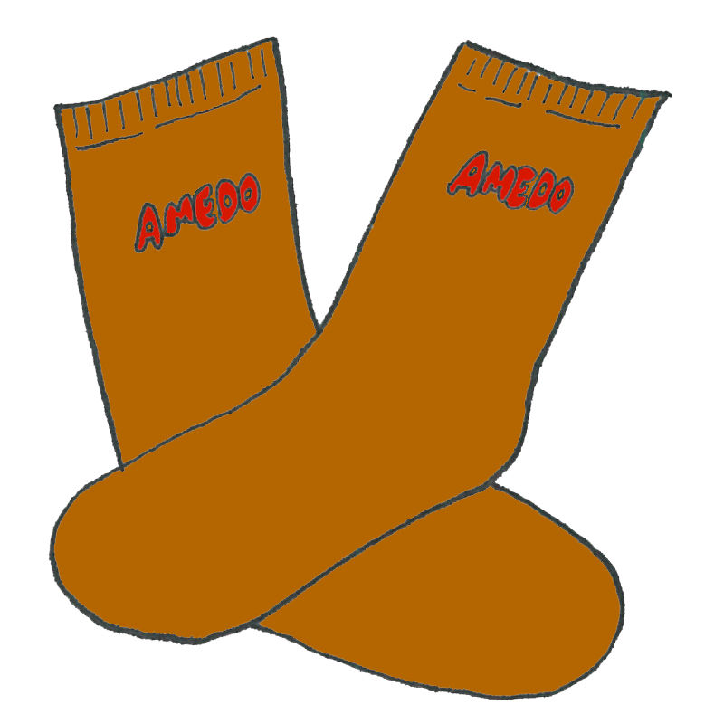 AMEDO  SOCKS kogashi brown