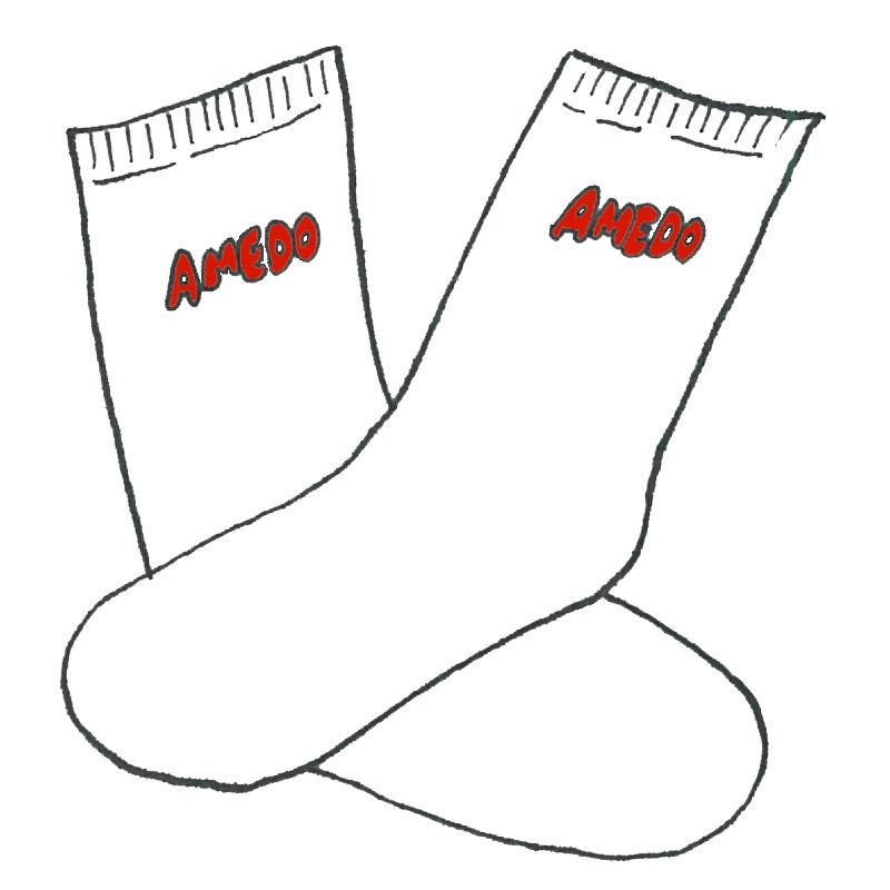 AMEDO SOCKS white